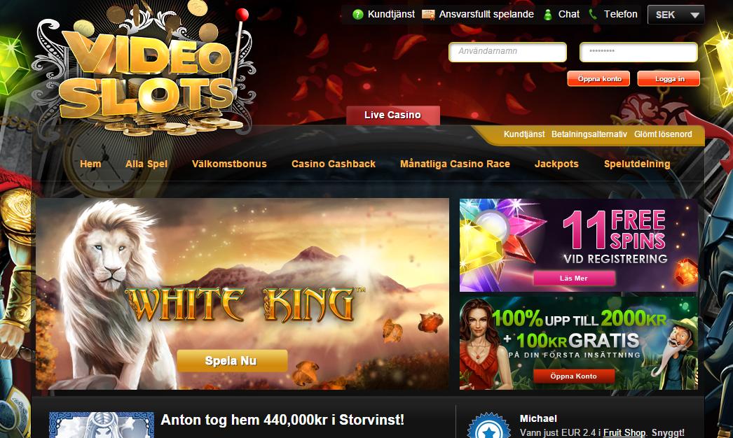 Det enda Svenska casinot med både casino bonusar och cashback på allt!