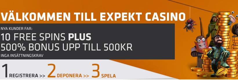 expekts unika casino bonus